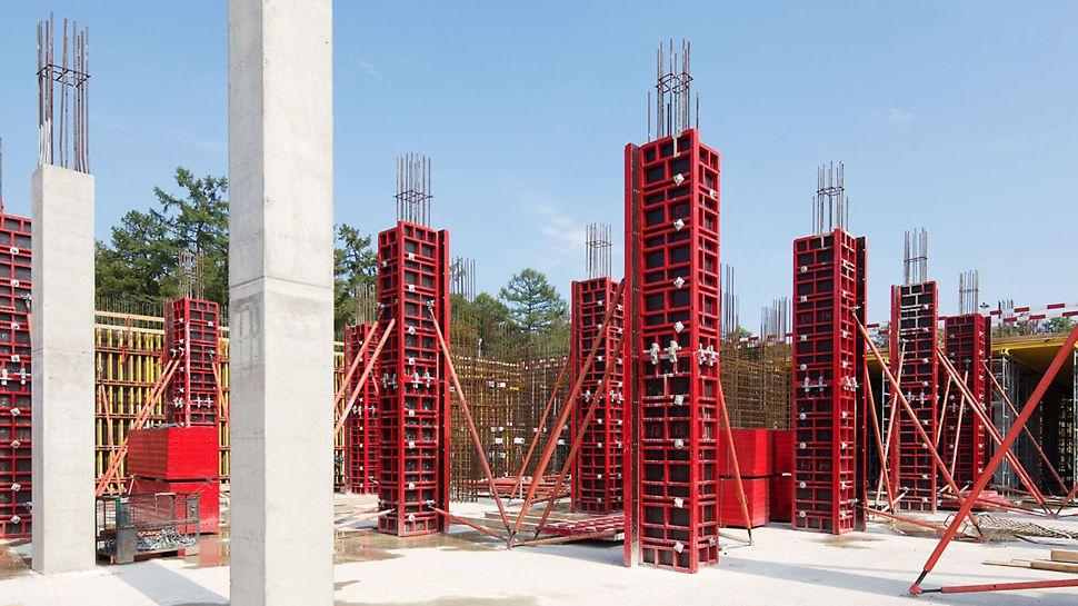 опалубка для колонн, рамная опалубка для колонн, рамнощитовая опалубка колонн, опалуба колонн квадратного сечения, опалубка колонн прямоугольного сечения