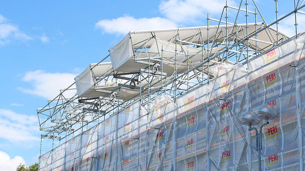 Valmiita LGS-lohkoja 14 metrin korkeudessa.