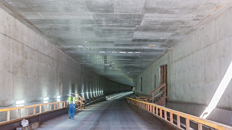 The view from the north towards the already completed southern tunnel entrance.