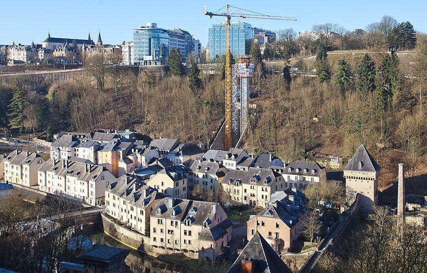 PERI helpt bij de realisatie van een mechanische verbinding voor fietsers en voetgangers  tussen het Pfaffenthal en de bovenstad via het Pescatore-park