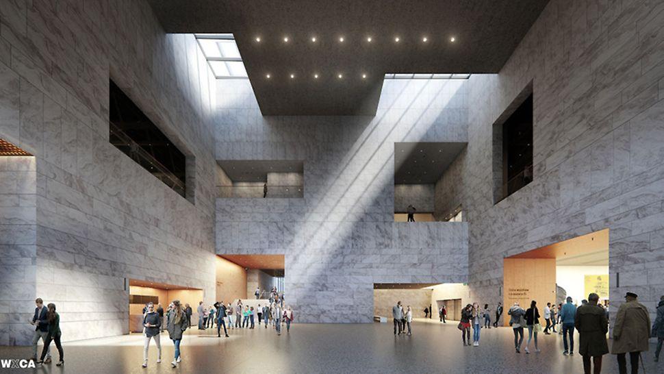Muzeum Historii Polski - hol główny, wizualizacja, fot. Muzeum Historii Polski