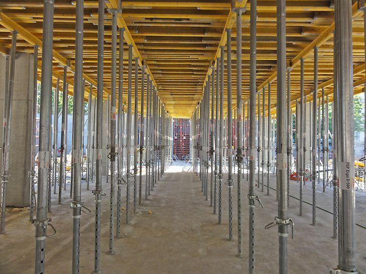 PEP Ergo čelični stropni podupirači za podupiranje stropnih oplata s brojnim praktičnim detaljima koji primjenu čine brzom i sigurnom.