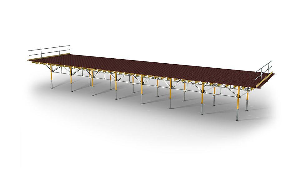 SKYTABLE, der Deckentisch für maximal 150 m² Fläche.