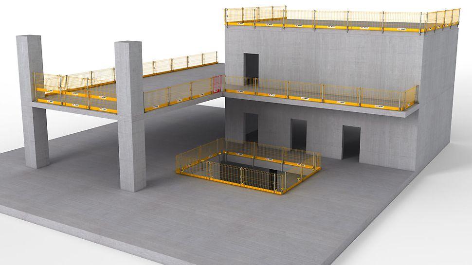 PROKIT EP 110: Sistemul de siguranță pentru protecție perimetrală temporară