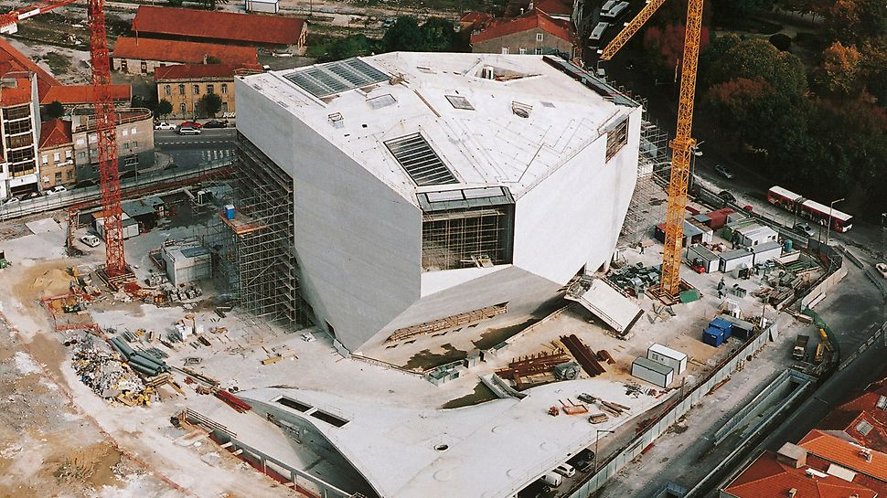 "Casa da Música, Porto, Portugal - Built to coincide with ""Porto 2001 – European Culture Capital"", the concert hall is pictured here after structural work had been completed."