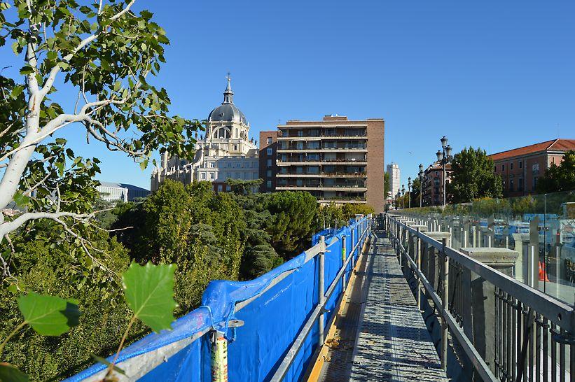 Viaducto calle Bailén, Madrid - Vista de la plataforma superior del viaducto