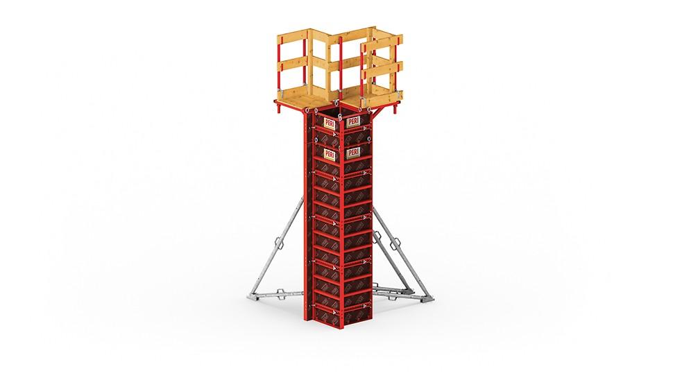 Легкая опалубка колонн LICO для минимизации затрат за счет сборки вручную