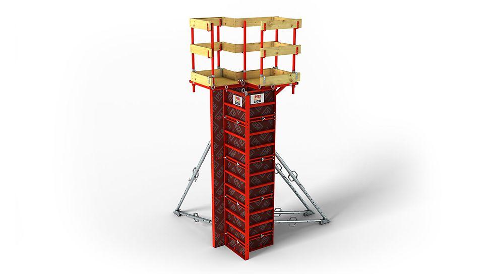 LICO: Encofrado ligero y económico de pilares, para encofrar a mano