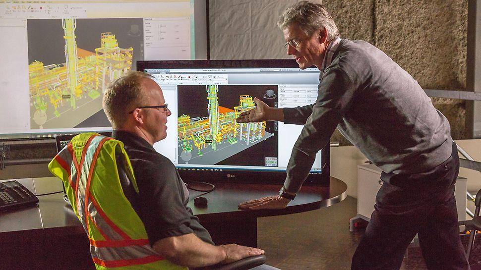 Northwest Redwater Project (NWR), Edmonton: Detailní trojrozměrný návrh lešení a včasné odsouhlasení všemi účastníky zvyšují bezpečnost práce a stejnou měrou i efektivitu. PERI podporuje realizaci projektu řídicím softwarem pro velké projekty a optimalizuje propojení návrhu lešení s realizací.