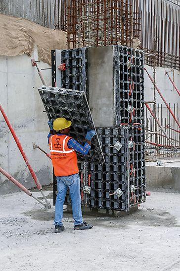 Mit DUO Multipaneelen lassen sich quadratische und rechteckige Säulen von 15 cm x 15 cm bis 55 cm x 55 cm im 5-cm-Raster herstellen