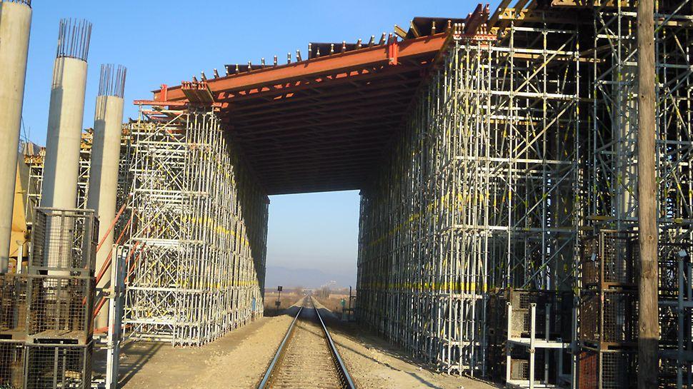 Istočni krak koridora 10. PERI rešenje baziralo se na iznajmljivim, standardizovanim komponentama.