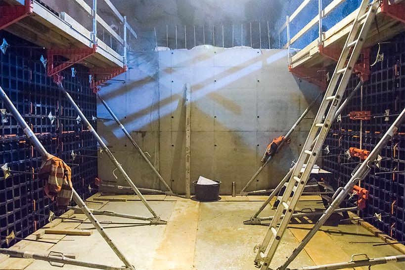 Damåsen Saggrenda Duo forskaling  Peri tunnel Kongsberg Veidekke