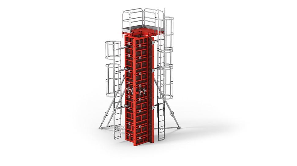 Deskowanie słupów TRIO: płyty do ścian i słupów, przekroje do 75 cm x 75 cm.