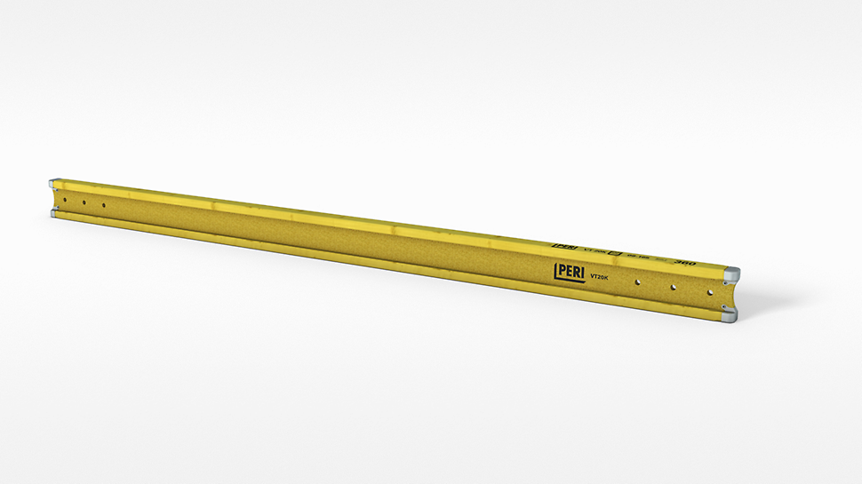 PERI VT 20K je pun drveni nosač visine 20 cm, sa optimalnom zaštitom na krajevima.