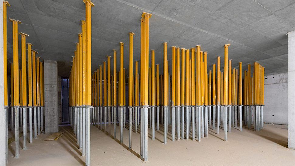 Lagani aluminijumski MULTIPROP podupirači prenosili su opterećenje sa viže etaža.