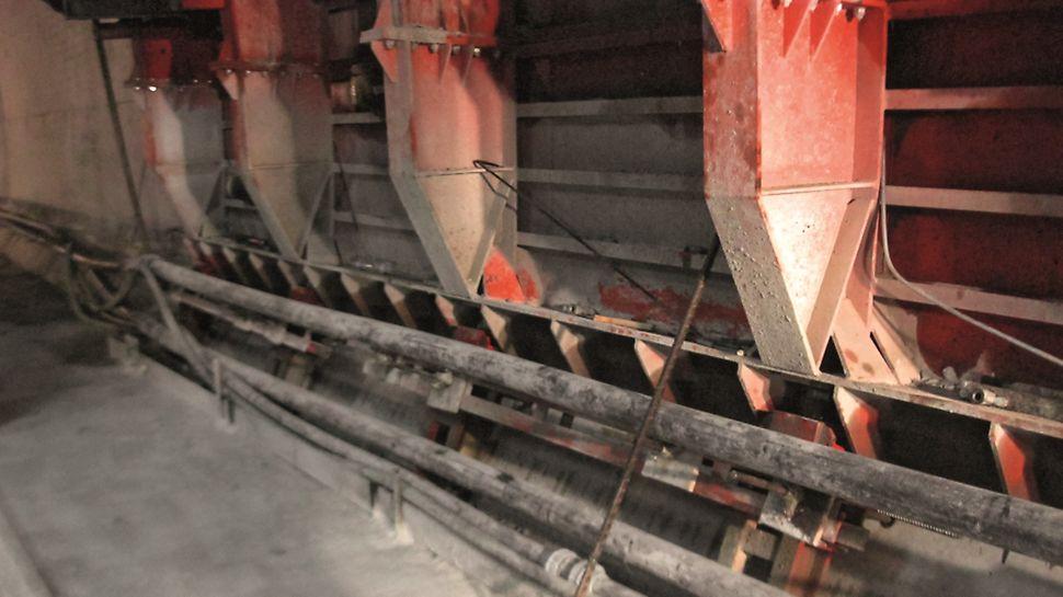 Metro de Argel - Linha e Estações - Detalhes do suporte da cofragem