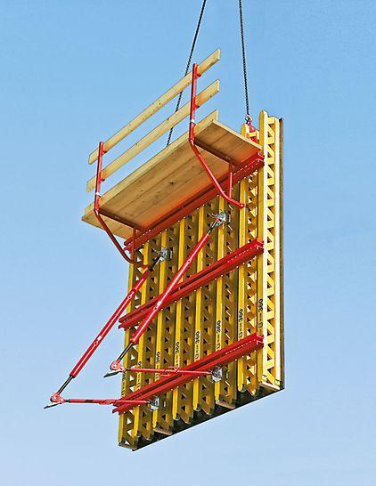 Einsetzbar als Projektschalung für Industrie- und Wohnungsbau, für Brückenwiderlager oder Stützwände, für jeden Grundriss und jede Höhe.