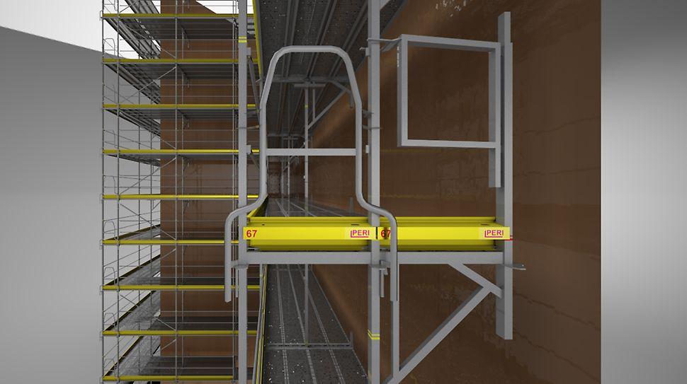 Scaffmax ermöglicht Ihnen, auch komplexe, verschachtelte Gebäudeformen und Fassaden einzurüsten.