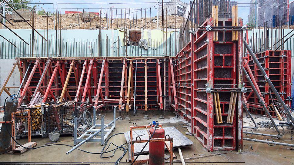 одностороннее бетонирование, опалубка TRIO, опалубка для подпорных стен