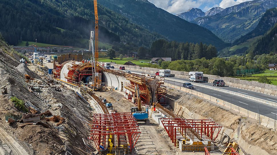 Enclosure Structure for the A10 Motorway, Zederhaus, Austria | Smooth operations using PERI solution specifically modified for the project