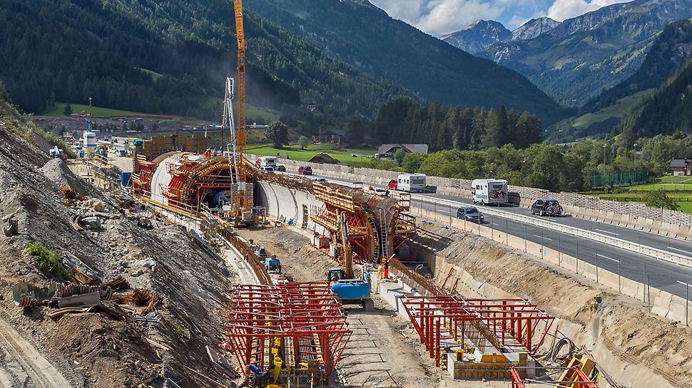 Einhausung A10 Zederhaus, Österreich | Reibungsloser Ablauf durch projektspezifisch angepasste PERI Lösung