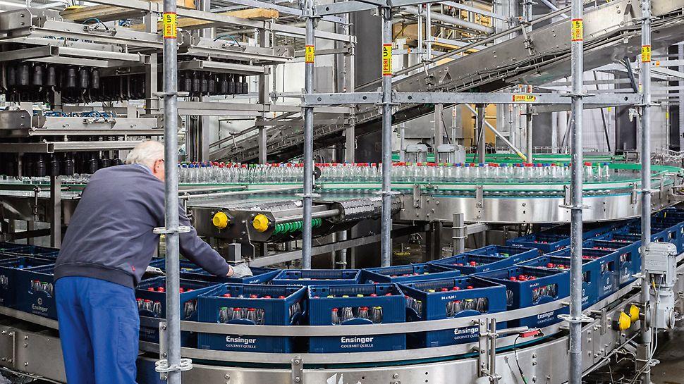 Der Produktionsbetrieb kann trotz der umfangreichen Modernisierungsmaßnahme nahezu ungestört fortgeführt werden.