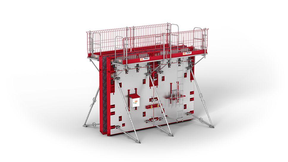 Doplnění systému MAXIMO o vyhřívané panely umožňuje také vhodná řešení pro betonáž při nízkých teplotách. Přísun tepla se stará o nerušený hydratační proces.
