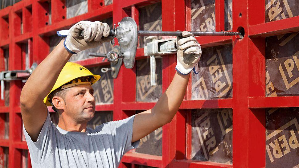 Innowacyjny ściąg MX jest obsługiwany jednostronnie i nie wymaga rurek dystansowych ani stożków. Technologia ta pozwala zaoszczędzić materiał i nakłady robocze.