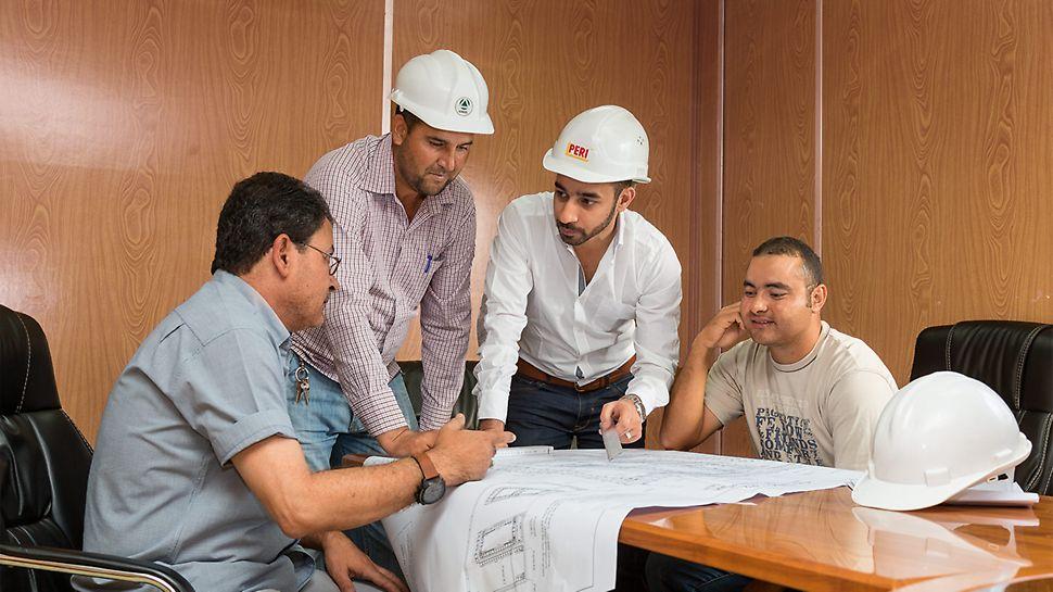 PERI Spezialisten unterstützten den reibungslosen Baufortschritt mit stetiger Projektbegleitung und technischem Support.