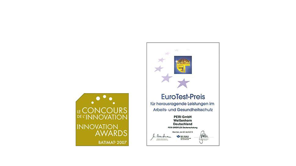 Sistemul GRIDFLEX a primit numeroase premii pentru inovație și siguranța în lucru pe care o oferă.