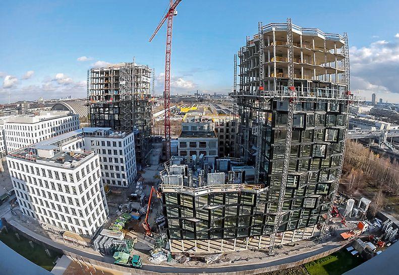 Complesso di Hirschgarten MK 4, Monaco, Germania - Costruzione in soli 12 mesi grazie a soluzioni complete di casseforme e ponteggi PERI