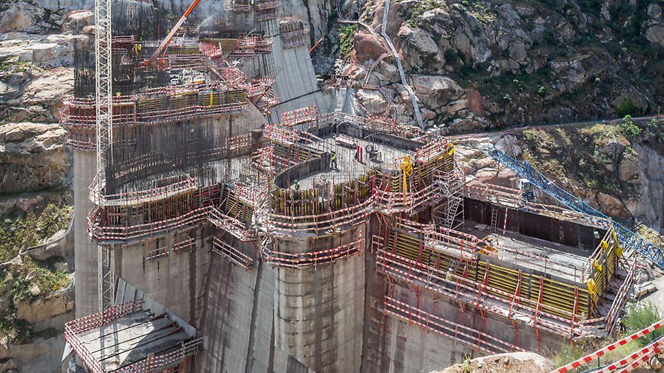 Progetti PERI - Diga Foz Tua, Portogallo: sistema di ripresa SCS