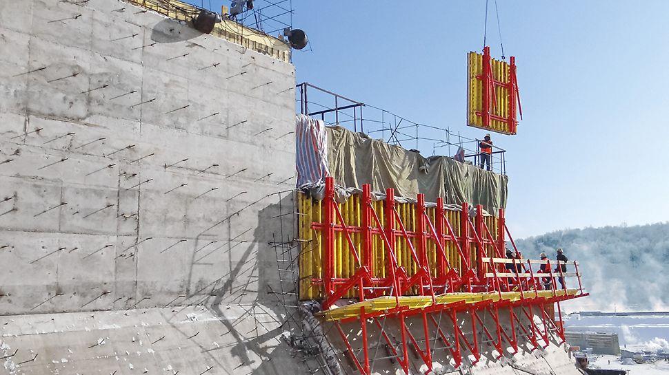 Нижне-Бурейская ГЭС - опалубка стен VARIO