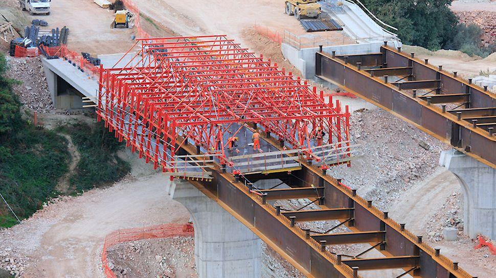 Viadotto San Lorenzo, Foligno - Sistema modulare PERI VARIOKIT a noleggio