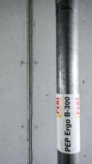 Linia odcisku krawędzi deskowania MAXIMO i widoczne odciski łączników