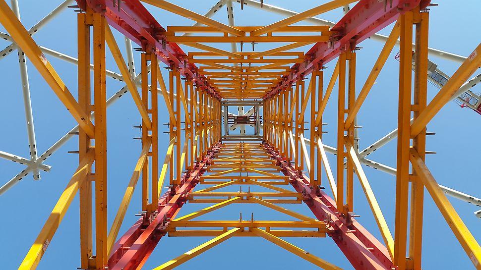 A legmagasabb VARIOKIT VST torony magassága 44 m.