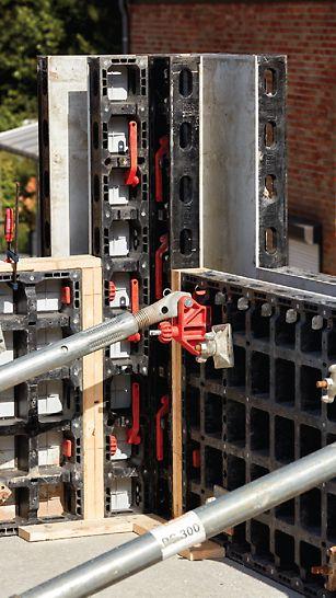 Vadribo particuliere woning in Stekene: Een minimaal aantal systeemcomponenten en een groot gebruiksgemak maken van het DUO bekistingssysteem de perfecte partner in kleinere bouwprojecten.