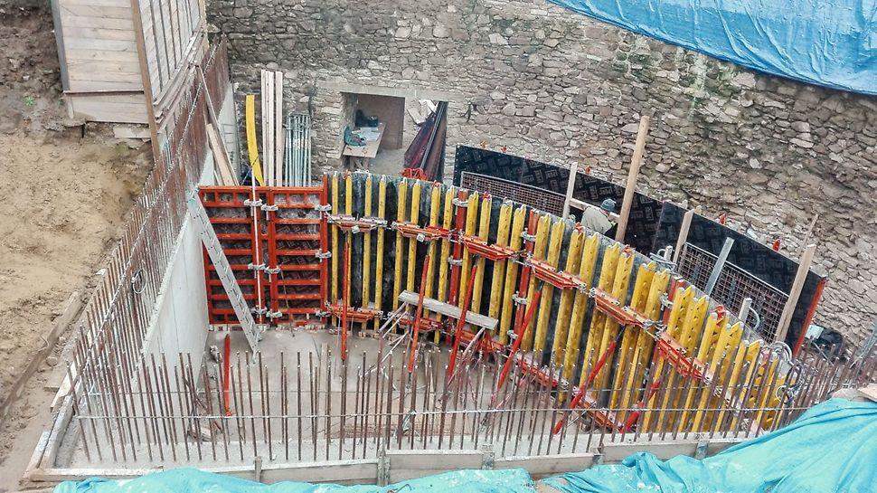 Obnova južného opevnenia, Bardejov, Debnenie RUNDFLEX