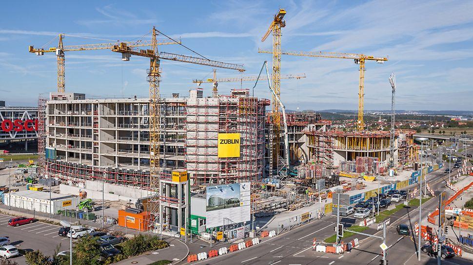 Baustelle des Bürogebäudes New Office Airport in Stuttgart