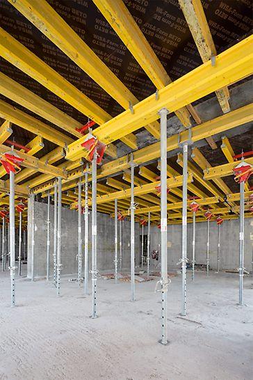 Soluzioni complete PERI per Al Habtoor City Towers, Dubai - Tavoli per solai, dotati di testa orientabile e i puntelli per solai PEP Ergo erano parte integrante della soluzione PERI