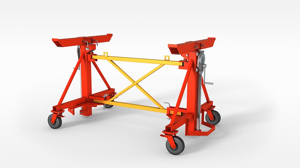 Dekkebordsvogn - flytting av dekkebord Table Striking and Transportation Trolley: Easy and simple moving of slab tables