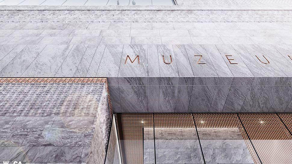 Muzeum Historii Polski - elewacja, wizualizacja, fot. Muzeum Historii Polski, pracownia architektoniczna WXCA.