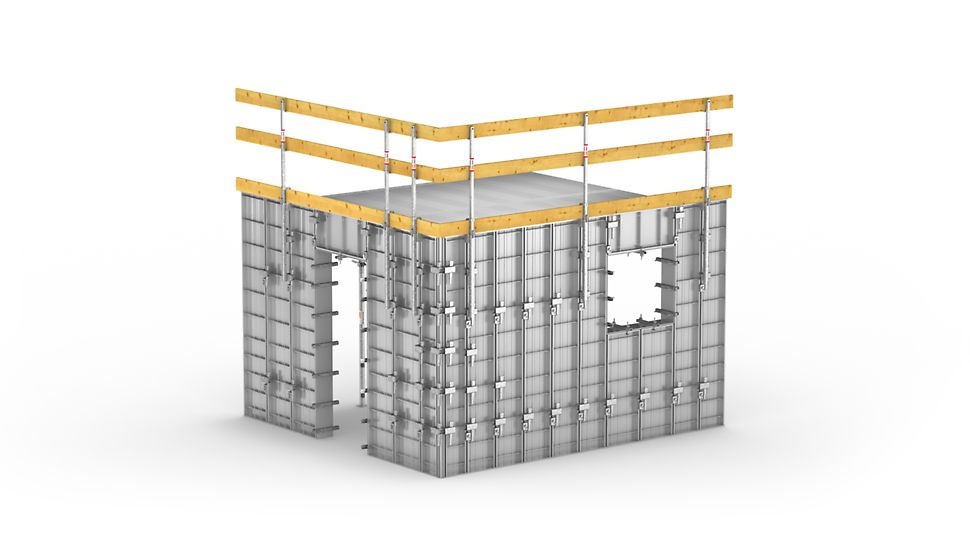 Quick and efficient forming of repeat building structures in social residential construction