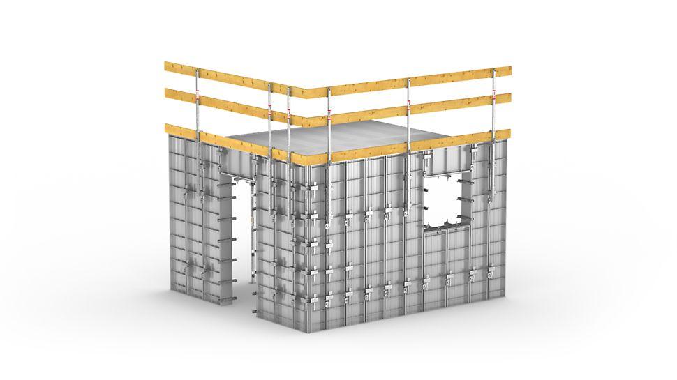 Encofrado rápido y eficiente de muchas unidades iguales en la construcción de viviendas sociales