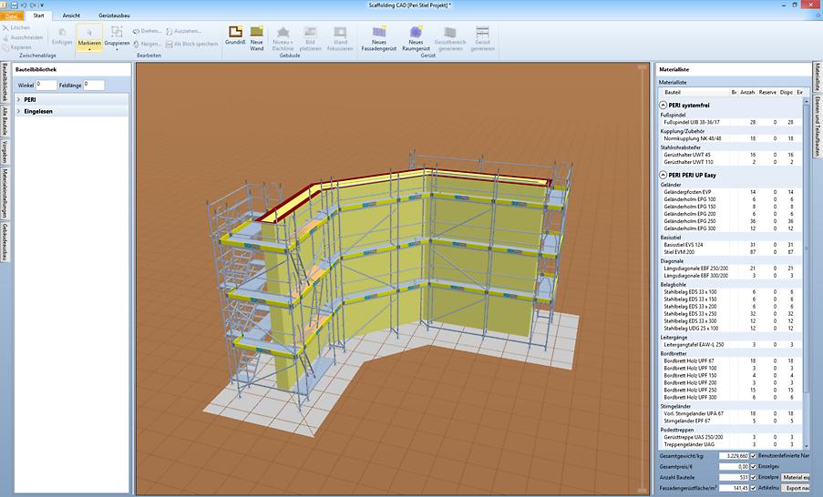CP-Pro Scaffolding CAD eignet sich für unterschiedlichste Gebäudeformen in verschiedenen Komplexitätsstufen.