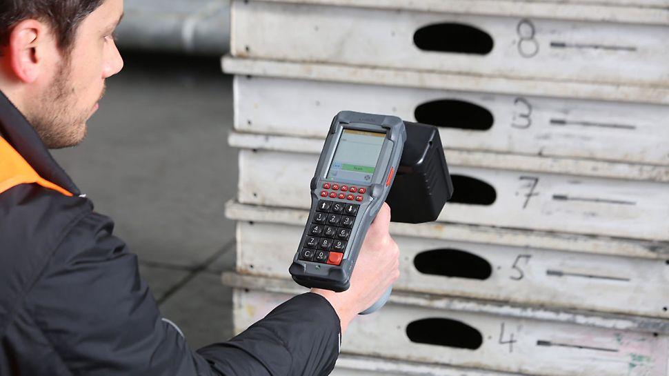 Alle kassetter er udstyret med egen RFID chip. Denne scannes fra en smartphone, og giver dig information om kassettens vægt, størrelse og artikelnummer og direkte adgang til systemets brugervejledning og brochure.
