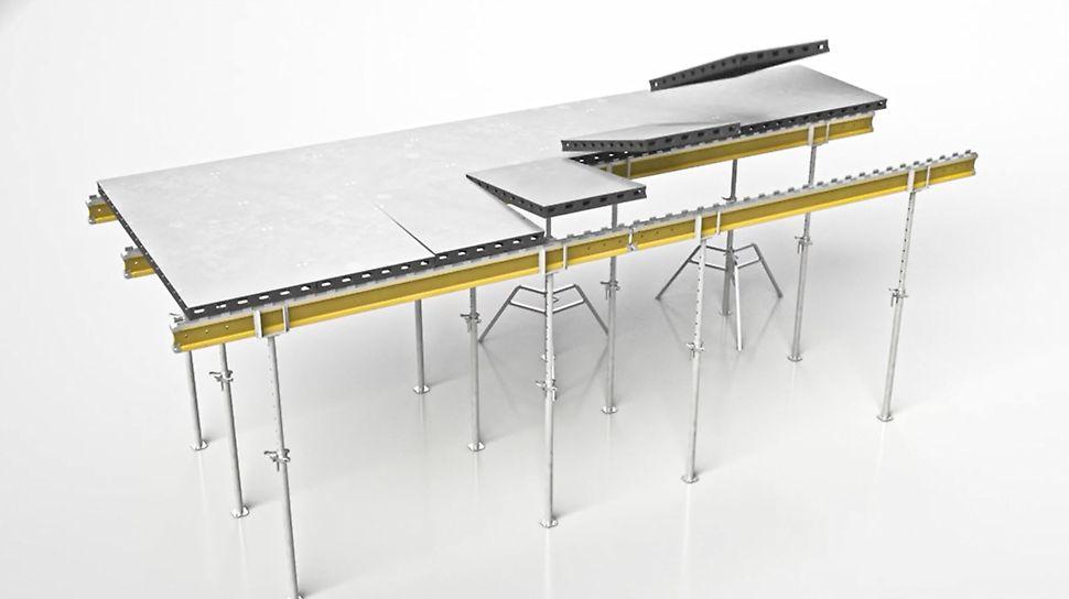 DUO als Deckenschalung - Systemerweiterung Trägerzahnleiste