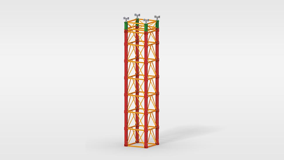 Sistemas de cimbra para cargas elevadas en la construcción de puentes, así como aplicaciones especiales en estructuras industriales