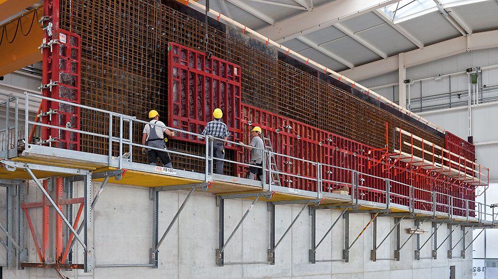 FB 180 Foldeplatform leveres komplet til byggepladsen.