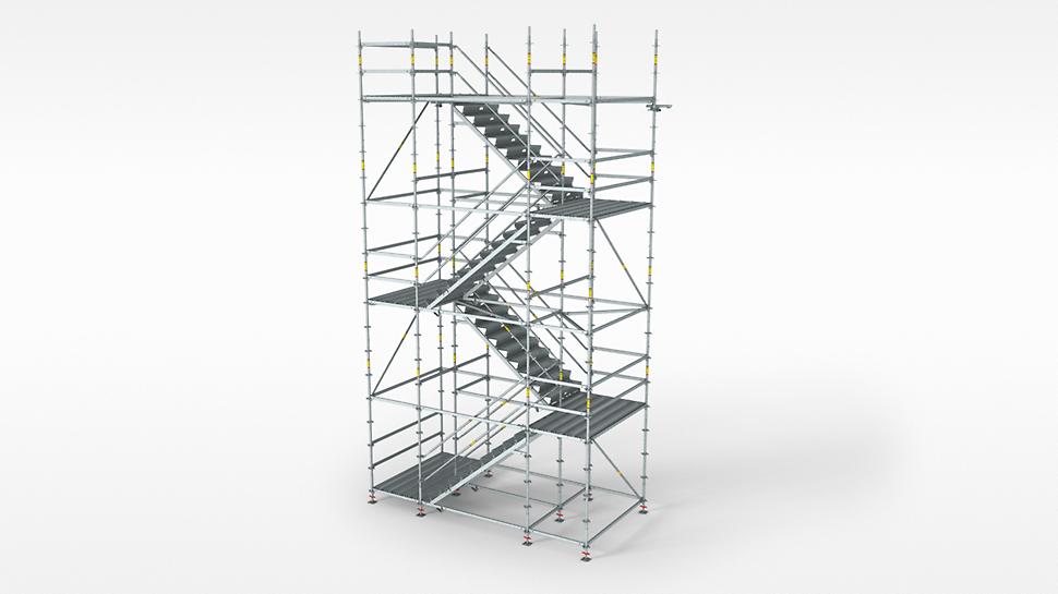 PERI UP Flex čelična stepeništa 100,125: za visoke zahteve u pogledu nosivosti i pristupa.